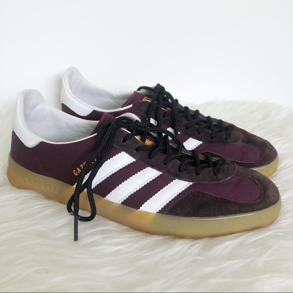 ADIDAS Gazelle Indoor in Light Maroon and White 9